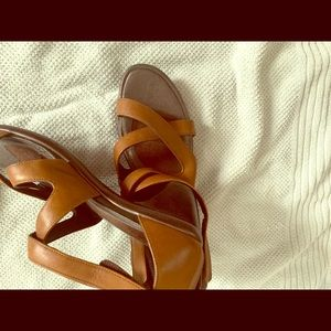 Size 41 NAOT brown strappy pumps